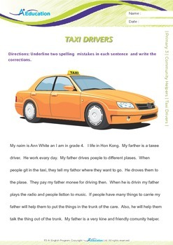 Community Helpers - Taxi Drivers - Grade 3