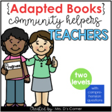 Community Helpers Teacher Adapted Books [ Level 1 and Level 2]