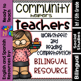 Community Helpers - Teachers - Maestros (Bilingual Set)