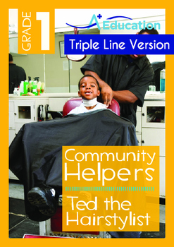 Community Helpers - Ted the Hairstylist  (with 'Triple-Track Writing Lines')