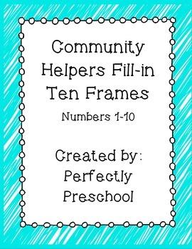 Community Helpers Ten Frame Fill-in {Dollar Deal}