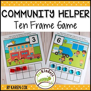 Community Helpers Ten Frame Game  (Pre-K + K Math)