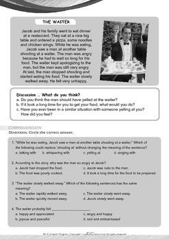 Community Helpers - The Waiter - Grade 6