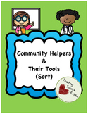 Community Helpers & Their Tools Sort/ File Folder Game