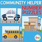 Community Helpers Theme 1-15 Number Puzzles