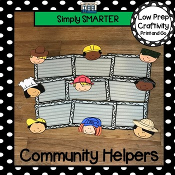 Community Helpers Themed Cut and Paste Writing Craftivity