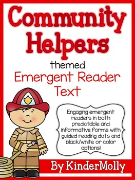 Community Helpers Themed Emergent Reader - Predictable and Informative Text