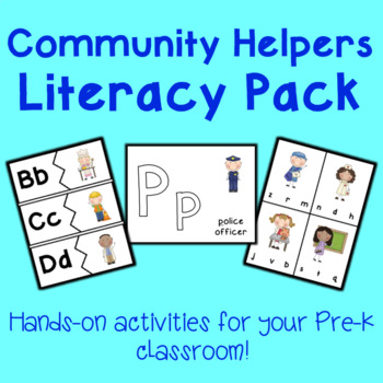 Community Helpers Literacy Center Activities
