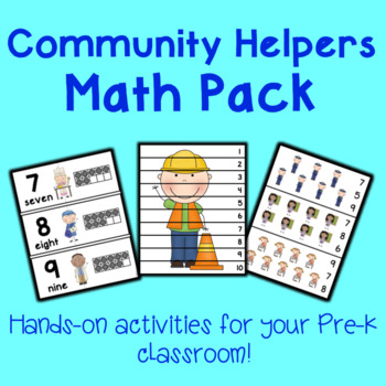 Community Helpers Math Center Activities