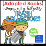 Community Helpers Trash Collector Adapted Books [ Level 1