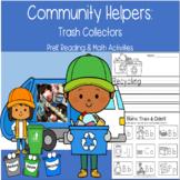 Community Helpers: Trash Collectors PreK Reading Math Inde