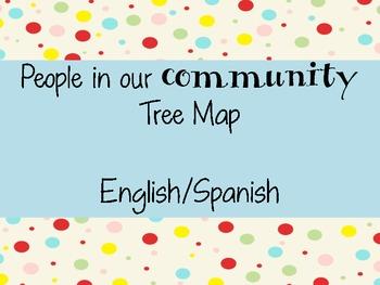 Community Helpers Tree Map English/Spanish