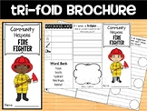 Community Helpers Tri-fold  Graphic Organizers : Firefighter, fireman, fire man