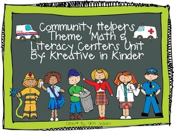 Community Helpers Unit: Math, Literacy , & Social Studies Centers