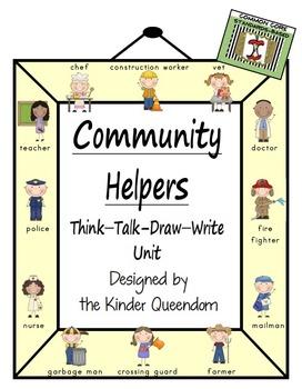 Community Helpers Unit  Think-Talk-Draw-Write Non-Fiction