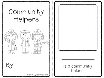 Community Helpers Unit for PreK, Kindergarten, or First Grade