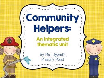 Community Helpers Unit for PreK, Kindergarten, or First Grade