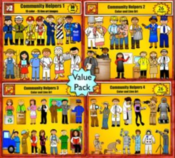 Community Helpers Value Bundle Clip Art by Charlotte's Clips