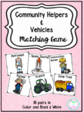 Community Helpers & Vehicles Matching Game