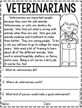 Community Helpers: Veterinarian