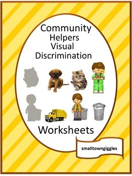 Visual Discrimination Community Helpers Fine Motor  Pre-K, K, Special Education