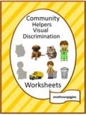 Community Helpers, Visual Discrimination,Fine Motor Skills, Autism Activities