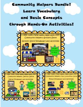 Community Helpers Vocabulary Activities Bundle!