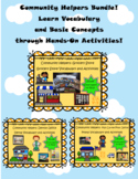 Community Helpers Vocabulary Activities Bundle! Autism Support