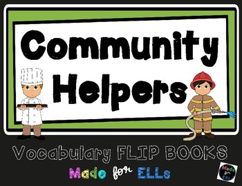 ESL Community Helpers Vocabulary Flip Book