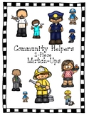 Community Helpers Vocabulary Match-Ups (puzzles)