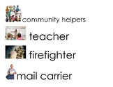 Community Helpers Vocabulary Word Cards Unit: Heroes and Helpers