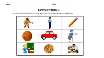 Community Helpers Vs. Non-Community Helper Sort