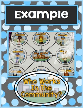 Community Helpers Web Graph & Word Wall Cards