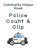 Community Helpers Week Police Count & Clip