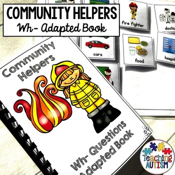 Community Helpers Wh Questions Adapted Book
