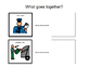 Community Helpers-What goes together visual book