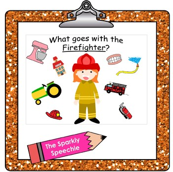 Community Helpers: What goes with / What belongs?
