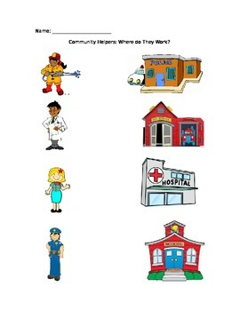 Community Helpers: Where Do They Work?