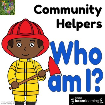 Community Helpers Who am I Digital Game- Boom Cards