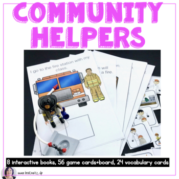 Community Helpers Who is in My Town Interactive Books and Games
