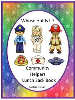 Community Helpers Whose Hat Is It? Lunch Sack Book Fine Motor