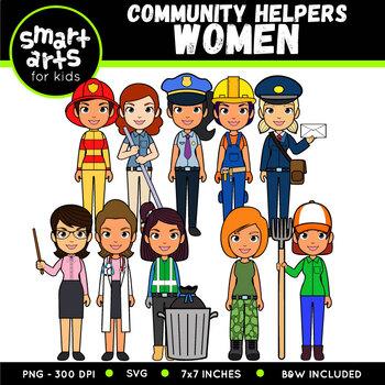 Community Helpers - Women Digital Clip Art