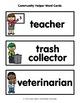 Community Helper Word Cards