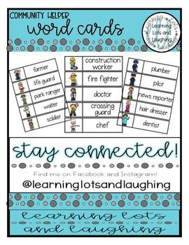 Community Helpers Word Cards