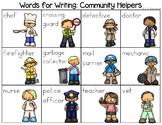 Community Helpers Word List - Writing Center