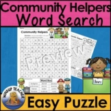 Community Helpers Word Search * Easy