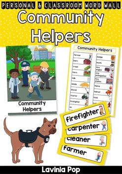 Community Helpers Word Wall by Lavinia Pop | Teachers Pay Teachers