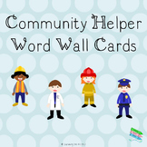 Community Helpers Word Wall Cards