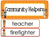 Community Helpers Word Wall Weekly Theme Posters.