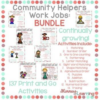 Community Helpers Work Job BUNDLE!